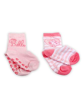 Baby ABS Socken 2er Pack für Mädchen mit Belle von den Peanuts